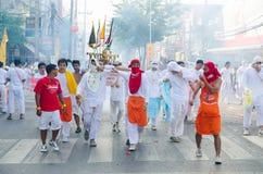 Het Festival van Phuketvegeterian Stock Foto's