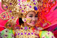 Het Festival van Pintaflores, San Carlos City, Negros-Westerling stock fotografie