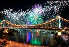 Het Festival van Riverfire in Brisbane Stock Afbeeldingen