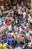 Het festival van Songkran in Bangkok, Thailand Royalty-vrije Stock Foto