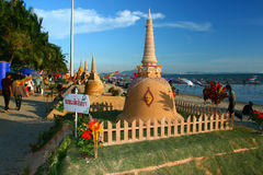 Het festival van Songkran op 17 Oktober, 2009. Stock Afbeeldingen
