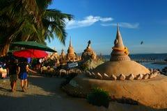 Het festival van Songkran op 17 Oktober, 2009. Stock Foto's