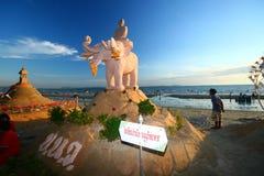 Het festival van Songkran op 17 Oktober, 2009. Royalty-vrije Stock Fotografie