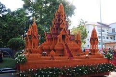 Het Festival van het waskasteel wordt gehouden jaarlijks aan het eind van Geleend Boeddhistisch De gebeurtenis is stock afbeelding