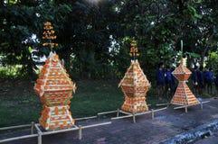 Het Festival van het waskasteel wordt gehouden jaarlijks aan het eind van Geleend Boeddhistisch De gebeurtenis is royalty-vrije stock afbeelding