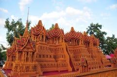 Het Festival van het waskasteel wordt gehouden jaarlijks aan het eind van Geleend Boeddhistisch De gebeurtenis is royalty-vrije stock afbeeldingen