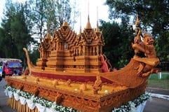 Het Festival van het waskasteel wordt gehouden jaarlijks aan het eind van Geleend Boeddhistisch De gebeurtenis is stock fotografie