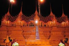 Het Festival van het waskasteel wordt gehouden jaarlijks aan het eind van Geleend Boeddhistisch De gebeurtenis is royalty-vrije stock foto's