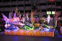 Het Festival van het waskasteel wordt gehouden jaarlijks aan het eind van Geleend Boeddhistisch De gebeurtenis is royalty-vrije stock foto