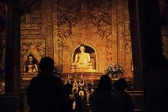 Het Festival van Wat Thailand LoyKrathong ChiangMai royalty-vrije stock afbeeldingen