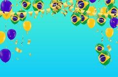 Het festival vierde Braziliaanse Kleurrijke Vierings Braziliaanse Auto royalty-vrije illustratie