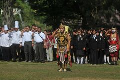 Het festival viert het Toerisme van de Werelddag in Indonesië Stock Foto's