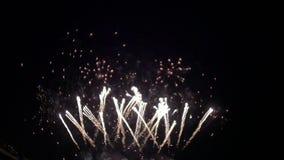 Het festival is Vuurwerk stock footage