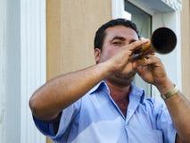 Het Festival Zurna van de Hidrellezlente het is begeleide bastrommel Royalty-vrije Stock Afbeelding