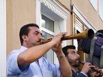 Het Festival Zurna van de Hidrellezlente het is begeleide bastrommel Royalty-vrije Stock Fotografie
