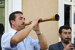 Het Festival Zurna van de Hidrellezlente het is begeleide bastrommel Royalty-vrije Stock Foto