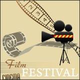 Het festivalachtergrond van de film Stock Foto's