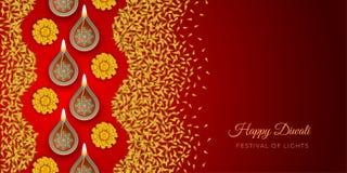 Het festivalachtergrond van Diwali stock illustratie