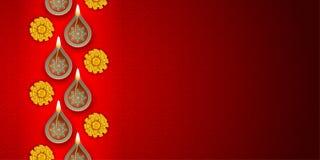 Het festivalachtergrond van Diwali vector illustratie