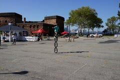 2015 het Festivaldeel 2 17 van NYC Unicycle Royalty-vrije Stock Foto's