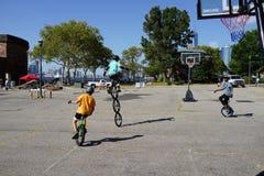 2015 het Festivaldeel 2 20 van NYC Unicycle Stock Foto's