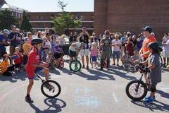 2015 het Festivaldeel 2 25 van NYC Unicycle Royalty-vrije Stock Afbeelding