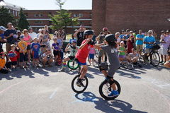 2015 het Festivaldeel 2 27 van NYC Unicycle Stock Foto's