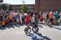 2015 het Festivaldeel 2 29 van NYC Unicycle Stock Foto