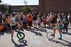 2015 het Festivaldeel 2 33 van NYC Unicycle Royalty-vrije Stock Foto's