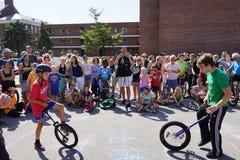 2015 het Festivaldeel 2 40 van NYC Unicycle Royalty-vrije Stock Foto's