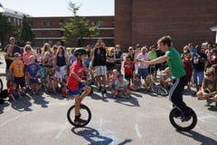 2015 het Festivaldeel 2 42 van NYC Unicycle Royalty-vrije Stock Afbeeldingen