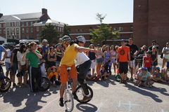 2015 het Festivaldeel 2 49 van NYC Unicycle Stock Fotografie