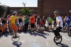 2015 het Festivaldeel 2 50 van NYC Unicycle Stock Foto's