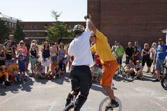 2015 het Festivaldeel 2 51 van NYC Unicycle Stock Afbeelding