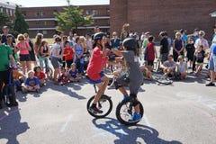 2015 het Festivaldeel 2 58 van NYC Unicycle Stock Fotografie