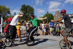 2015 het Festivaldeel 2 70 van NYC Unicycle Royalty-vrije Stock Afbeelding