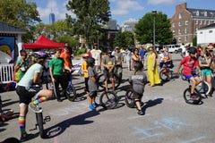 2015 het Festivaldeel 2 74 van NYC Unicycle Stock Foto