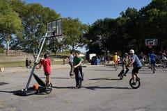 2015 het Festivaldeel 2 97 van NYC Unicycle Stock Foto's