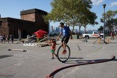 2015 het Festivaldeel 3 2 van NYC Unicycle Stock Foto