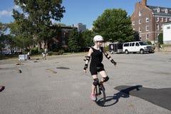 2015 het Festivaldeel 3 3 van NYC Unicycle Stock Fotografie