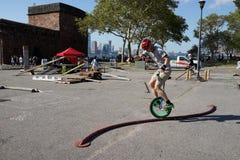 2015 het Festivaldeel 3 9 van NYC Unicycle Royalty-vrije Stock Afbeelding