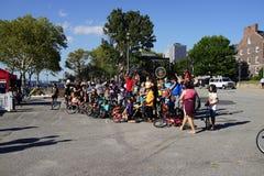 2015 het Festivaldeel 3 11 van NYC Unicycle Stock Afbeeldingen