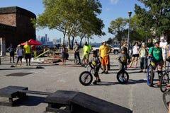 2015 het Festivaldeel 3 37 van NYC Unicycle Stock Fotografie
