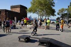 2015 het Festivaldeel 3 39 van NYC Unicycle Royalty-vrije Stock Foto's