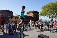 2015 het Festivaldeel 3 46 van NYC Unicycle Royalty-vrije Stock Foto