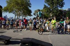 2015 het Festivaldeel 3 47 van NYC Unicycle Stock Afbeelding