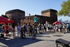 2015 het Festivaldeel 3 48 van NYC Unicycle Stock Fotografie