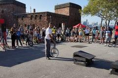 2015 het Festivaldeel 3 49 van NYC Unicycle Stock Afbeeldingen