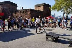 2015 het Festivaldeel 3 50 van NYC Unicycle Royalty-vrije Stock Foto's