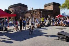 2015 het Festivaldeel 3 57 van NYC Unicycle Royalty-vrije Stock Fotografie